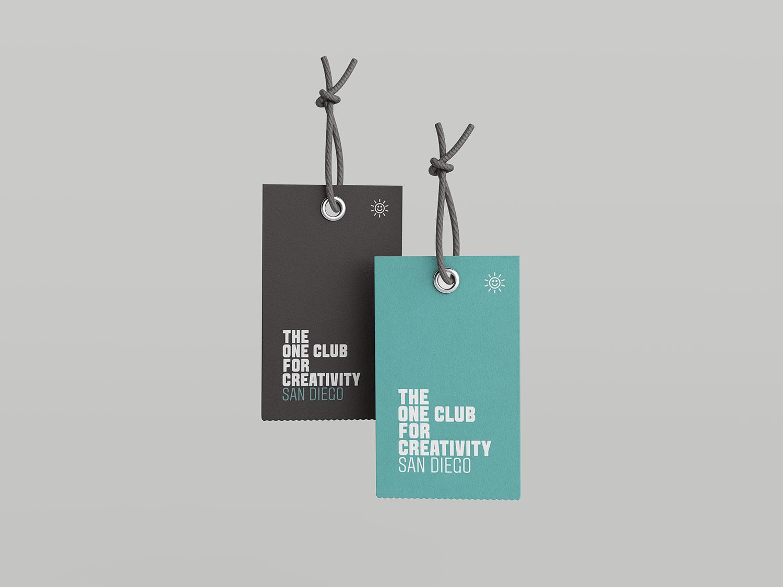 One Club for Creativity San Diego Brand Tags