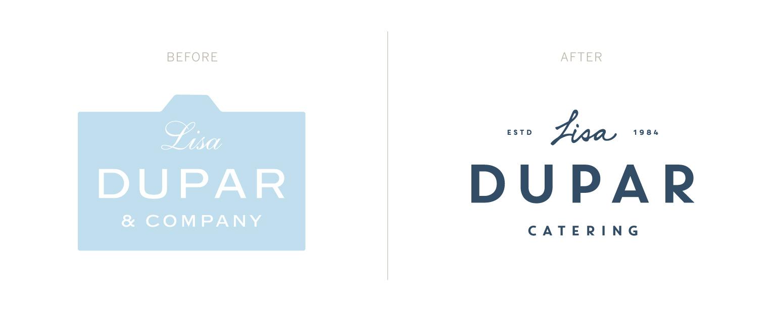 Lisa Dupar Catering Logo Design | Before & After